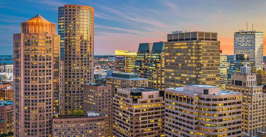 Boston MA downtown buildings